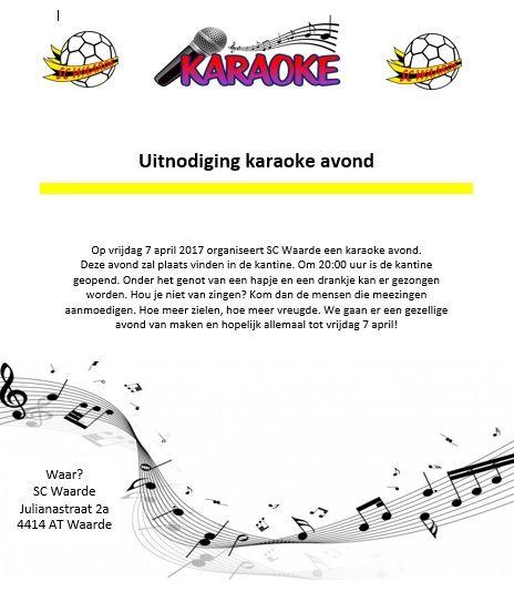 Uitnodiging karaoke